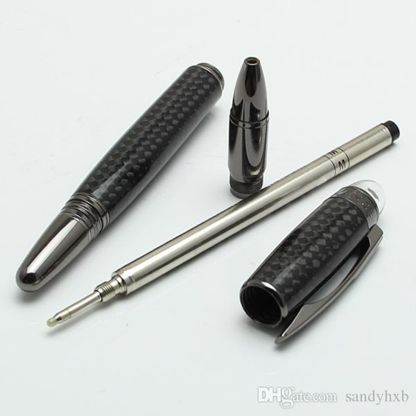 Luxury black resin Monte roller ball-point pen fashion stationery school office supplies writing brand pen for sale