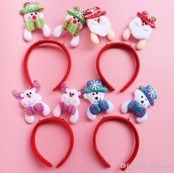 Christmas head hoop clasp hair band head band Christmas crafts head hoop party decoration CH01004