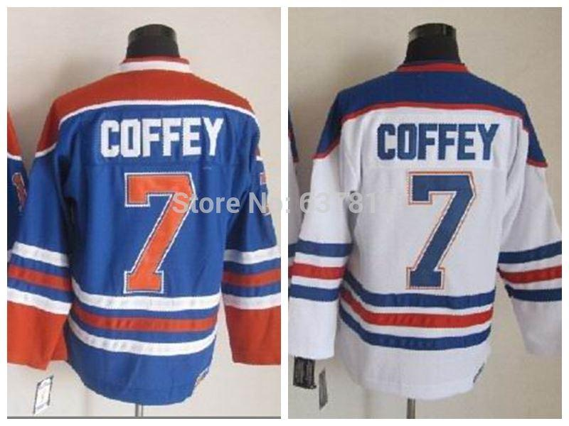 d96e304e9 ... Best Edmonton Throwback Hockey Jerseys 7 Paul Coffey Jersey Home Royal  Blue White Vintage Ccm Paul .