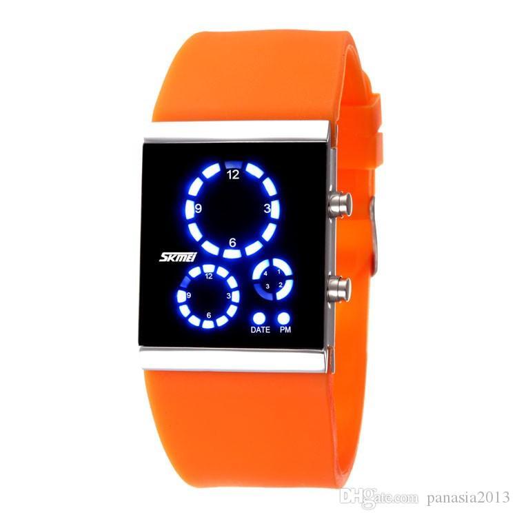 Nieuwe Collectie Mode Gift Liefhebbers Tafel Elektronische Horloge Menwomen Waterdichte LED-horloge Valentijnsdag Gift SKMEI 0984