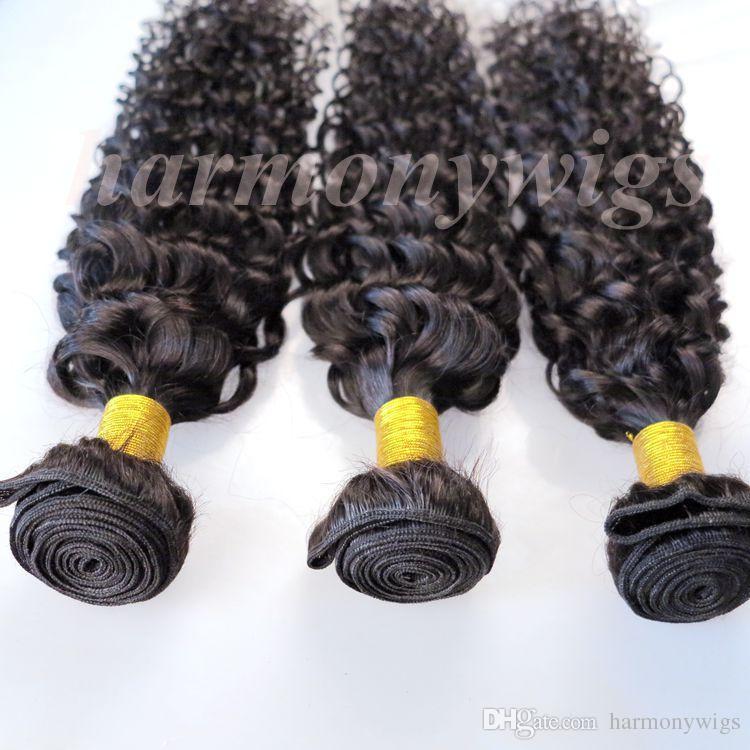 Cheveux vierges péruviens Bundles Tresses de cheveux humains Trames Jerry Bouclés 8-34 Pouces non transformés Indien Brésilien Mongolian Vison En Vrac Extensions