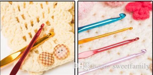 DHL Aluminum Crochet Hooks Needles Knit Weave Stitches Knitting Craft Case