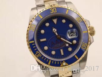 a06689fbc59 Compre 2017 Mens De Luxo Marca Relógio Automático Limitado Novo Mostrador  Azul Ouro Inoxidável Cinto Mens Relógio De Pulso Moda Cerâmica Moldura Mens  ...