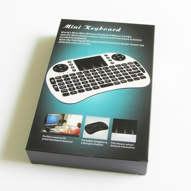 2015 Yeni kablosuz mini klavye Rii Mini iPad Andriod TV Box için Touchpad ile Kablosuz Klavye Fare DHL ücretsiz