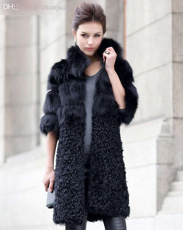2017 Wholesale New Arrival Natural Fur Coats Women Real Lamb Fur ...