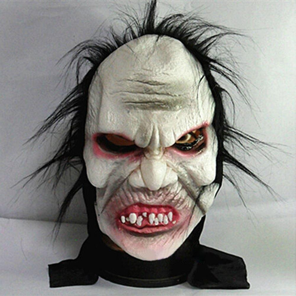 Angry Zombie Demon Full Head Mask Scary Halloween Prank Prop For ...