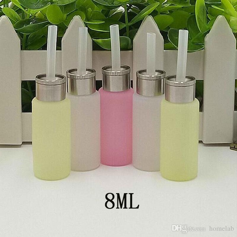 Ölen 8ML Silikon Boden füllen ejuice Squeeze Flasche für unten Nachfüllen elektrische Zigarette Mech Watt Box eliquid Nachfüllen Flasche