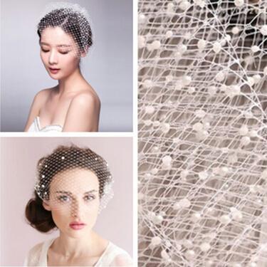 2015 New Arrival White Wedding Dress Bridal Headwear DIY Net Yarn Veil With Pearl Diamond Wedding Hair Accessories