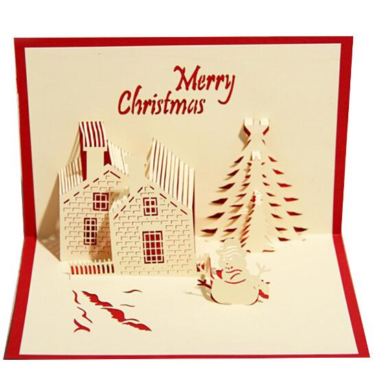 3d three dimensional greeting card business blessing christmas 3d three dimensional greeting card business blessing christmas invitation cards creative postcards christmas castle type party supplies congratulations m4hsunfo Images