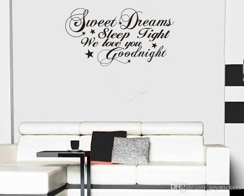 Süße Träume gute Nacht Zitat Wandaufkleber Hauptdekorationen diy abnehmbare  Vinly Wandtattoo Schlafzimmer Wandtattoo