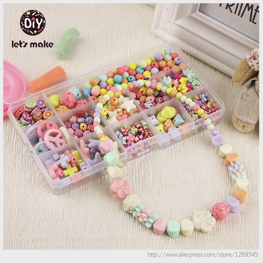 Korean DIY Kawaii Bracelet Plastic Bead Kit Accessories DIY Girl ...