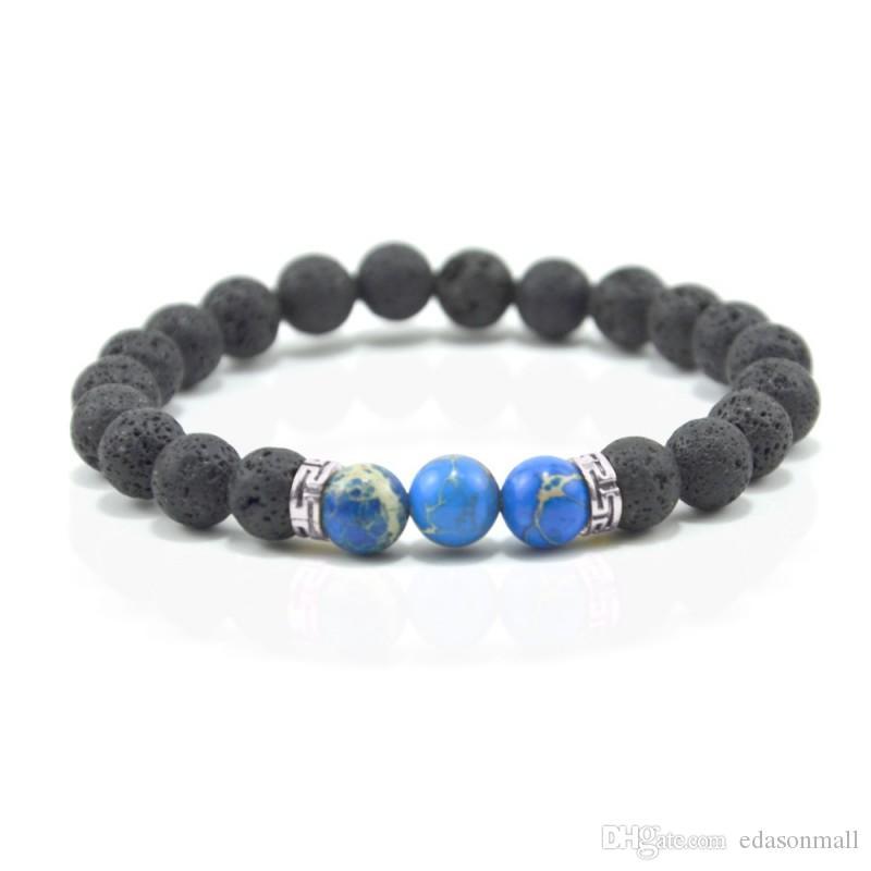 Mens Womens 8 Styles Natural Gemstone Round Beads Healing Crystals Reiki Chakra Balancing Stretch Bracelets Valentine's Gift D153S