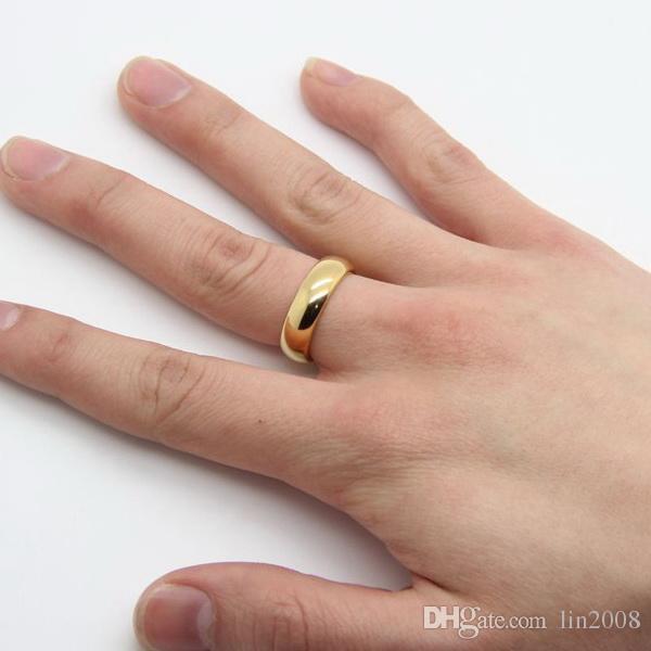 glasurgelber hochzeitsring für männer frauen mit box, 24 karat vergoldet heiraten braut party schmuck zubehör, männliche ringe