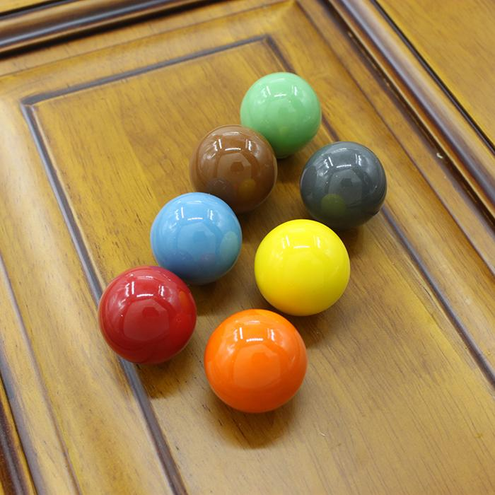2018 Large Size 33mm Round Ceramic Ball Drawer Pulls Kids Room ...