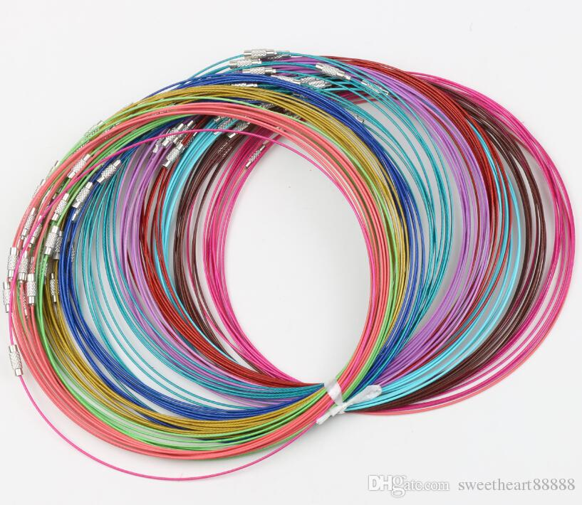 2018 multi color stainless steel wire cord necklaces new chains2018 multi color stainless steel wire cord necklaces new chains jewelry 18l jewelry diy from sweetheart88888, $30 46 dhgate com