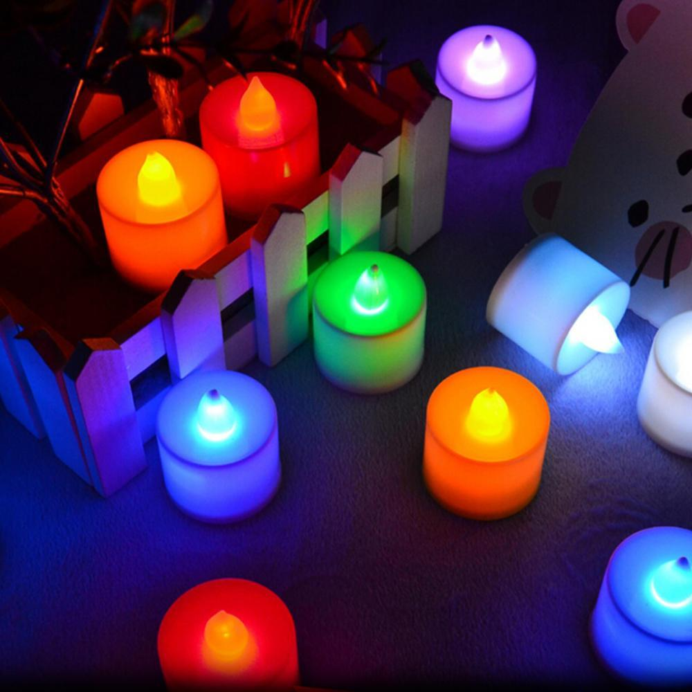 Led Electronic Candle Tea Light Lamp Many Color Night Party Wedding Christmas Festival