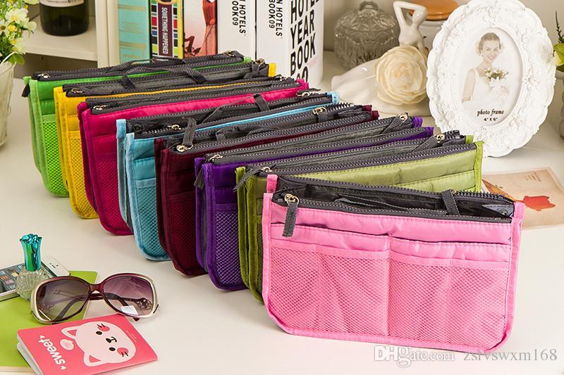 منظم الحقيبة محفظة حقيبة يد حقيبة سفر محفظة حامل مستحضرات التجميل الجيب