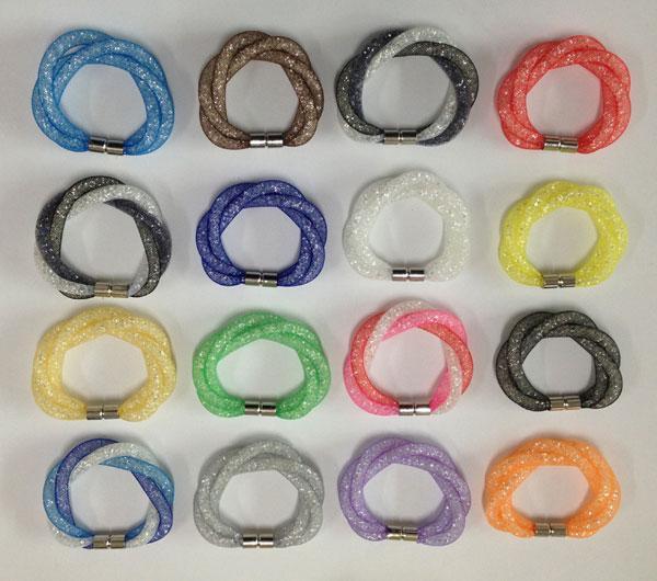 Swarovski Crystal Chain Bracelet Mesh Wrap Wristband New