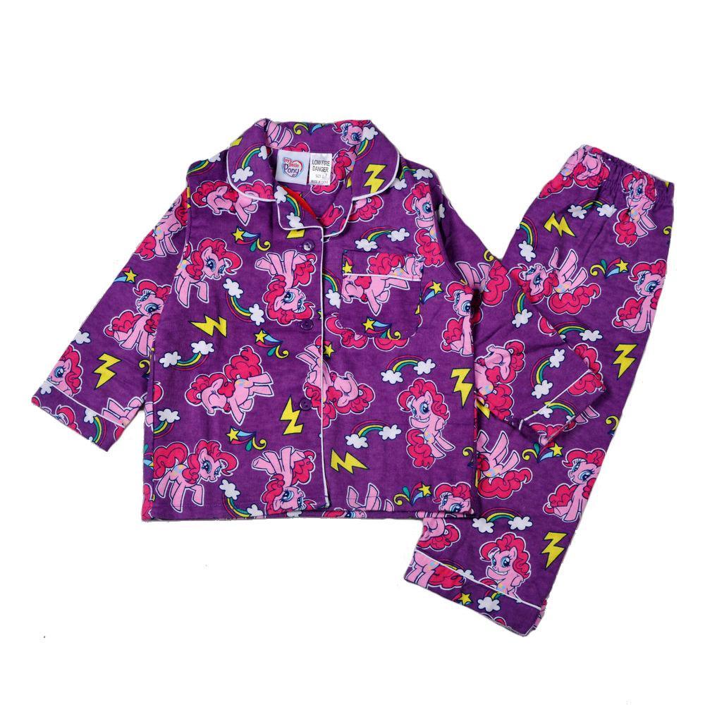 26ec55556e06 Free Fast Winter 2015 Baby Girls My Little Pony Flannel Pajamas ...