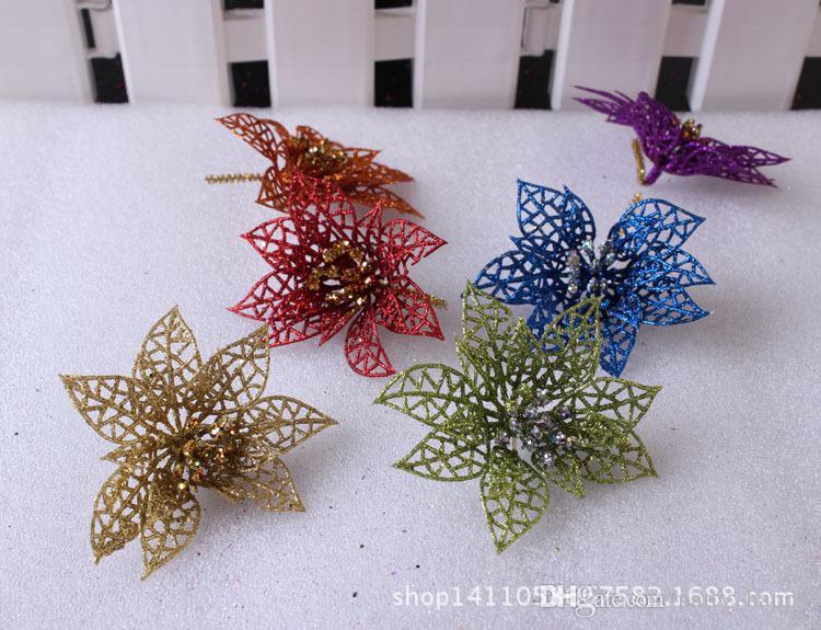 L'albero di Natale decorato fiore di Natale Six Pack / i Widget albero di Natale Regali di Natale Fiore di Natale Decorazione di nozze C