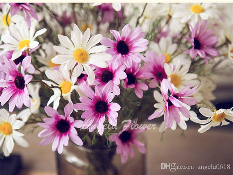2015 New Artificial High quality real look Daisy Flowers country style Decoration for table home vase living room