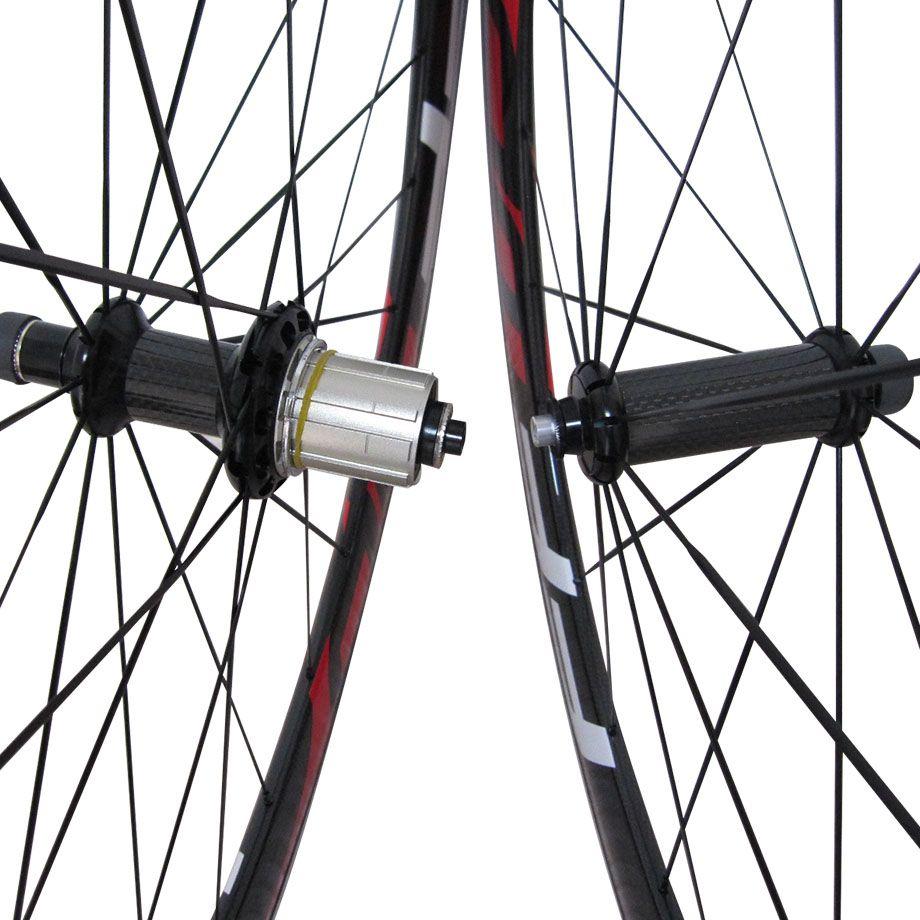 Kırmızı FFWD F6R 60mm Karbon Fiber Yol Bisikleti Alaşım Fren suface Tekerlekli çiftler F5R Karbon Alüminyum Yol Bisikleti Tekerlekler gariplik