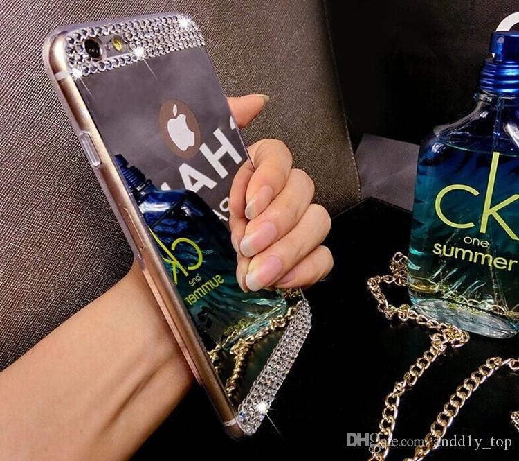 Nota5 Bling Diamond placca specchio acrilico TPU morbido paraurti custodia iPhone 5 5 s 6 più Samsung Galaxy S6 bordo A5 A7 S5 Nota