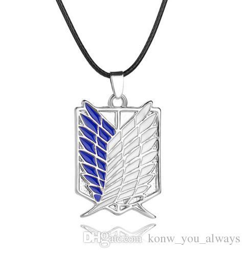Anime Collana pendente a tema Attack su Titan Scout Regiment Logo Collana Survey Corps Erwin Smith Accessori Gioielli