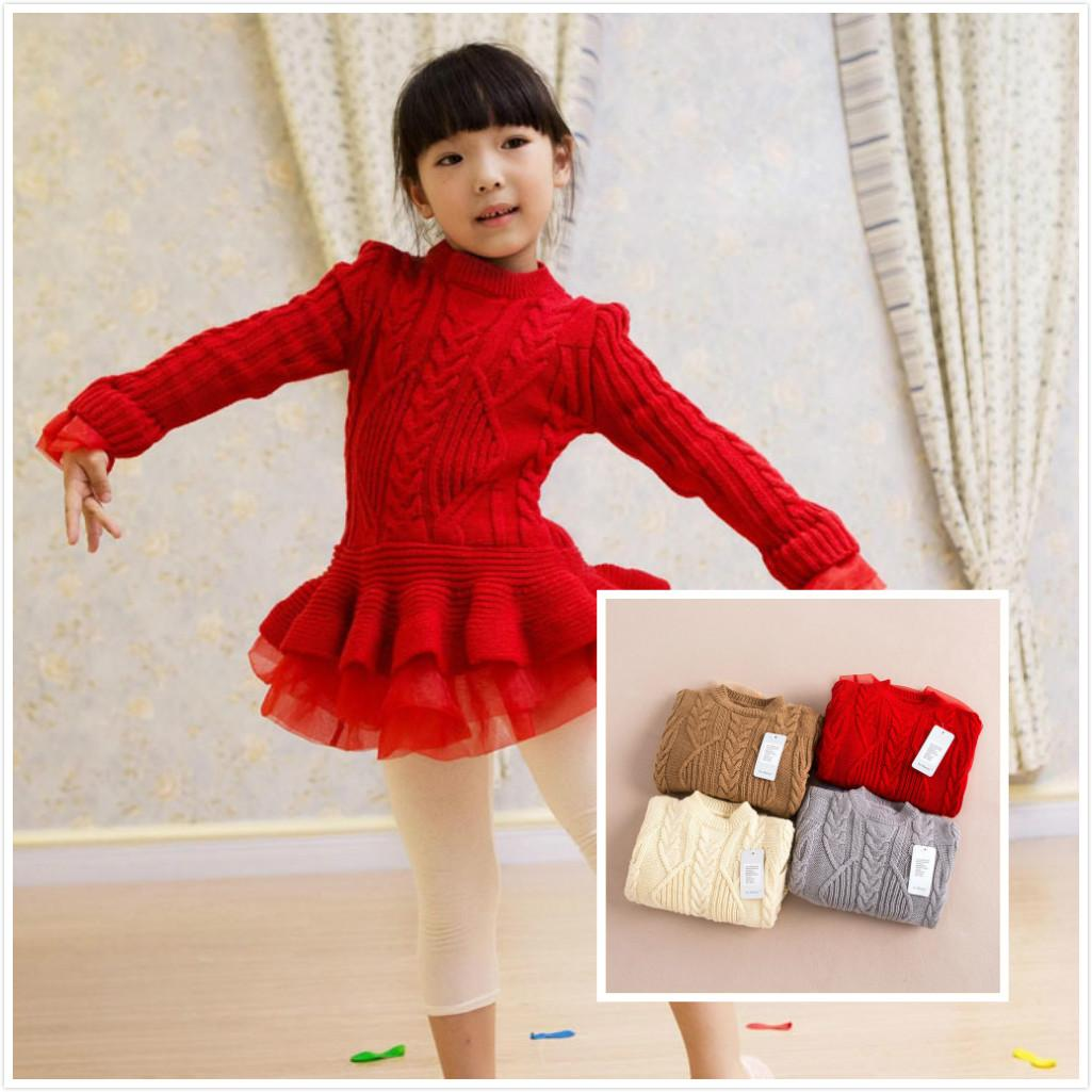 Best Girls Baby Lace Tutu Sweater Dresses Kids Baby Childrens ...