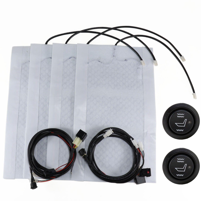 Carbon Fiber Universal Heated Seat Heater Kit Car Cushion: New 2 Seats Universal Heated Seat Heater Kit 12v Carbon