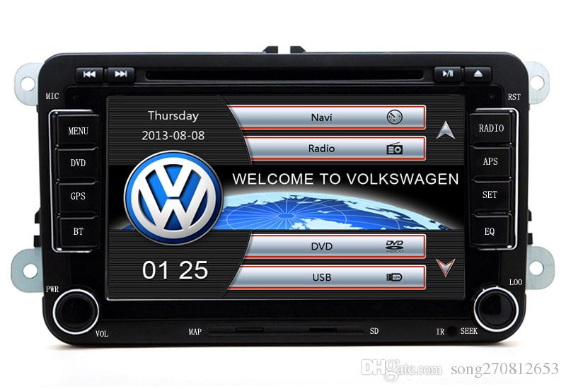 Envío rápido 2Din RS510 VW DVD de coche GPS integrado Bluetooth MP3 / MP4 1080P para Volkswagen GOLF 5/6