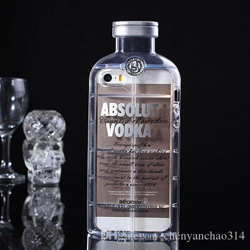 Phone Cases For Iphone 6 5 5S 4 4S 6 plus Cell Phone Protective Shell Luxury absolute Vodka alcohol Wine Bottle