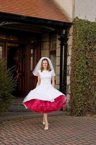 2014 Hot Sale Color Petticoat Fuchsia Ball Gown Layers