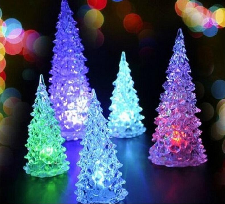 online cheap new arrival mini led christmas light christmas decorations the colorful small night light 13cm christmas tree mini light party decorations by - Led Christmas Tree