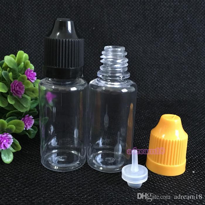 Новая Арвия ! Бесплатная доставка 2200 шт. 15 мл ПЭТ бутылка с красочными childproof cap by DHL высокое качество 15 мл длинный тонкий наконечник падение бутылки