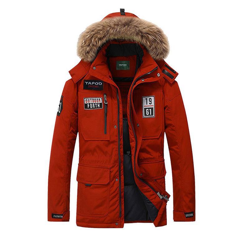 Großhandel Modemarke Kleidung Dicke Winterjacke Männer Mantel Mit Pelz Mit  Kapuze Outwear Verdickt Warm Pelzkragen Mantel Blau Rot Khaki Von  Meiliwang, ... c7581fa451
