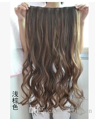 Clip super lunghe eccellenti di qualità nelle estensioni dei capelli capelli sintetici ricci spessore 1 pezzo l'alta qualità della testa piena