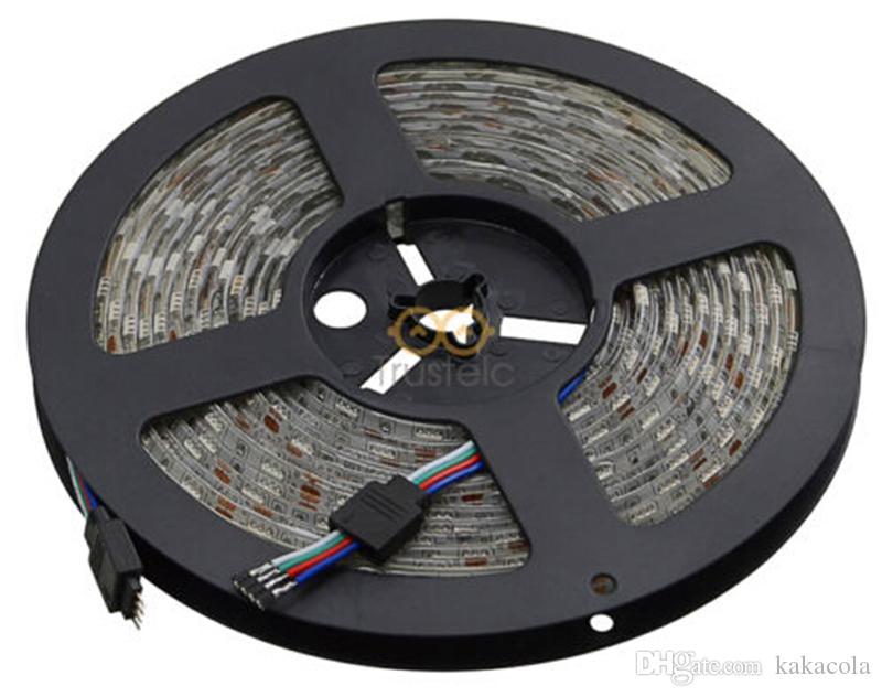 شرائط للماء IP65 5M 300 المصابيح SMD 5050 أضواء RGB بقيادة شرائط 60 المصابيح M + تحكم عن بعد + 12V 5A امدادات الطاقة مع الاتحاد الاوروبي الاتحاد الافريقي المملكة المتحدة الولايات المتحدة SW