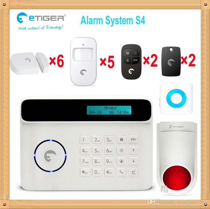 ! New Wireless 50 Defense Zones 433mhz PIR Home Security Burglar Siren Alarm System Auto Dialing Dialer Easy DIY Motion Detectors Panic Alarm From ...