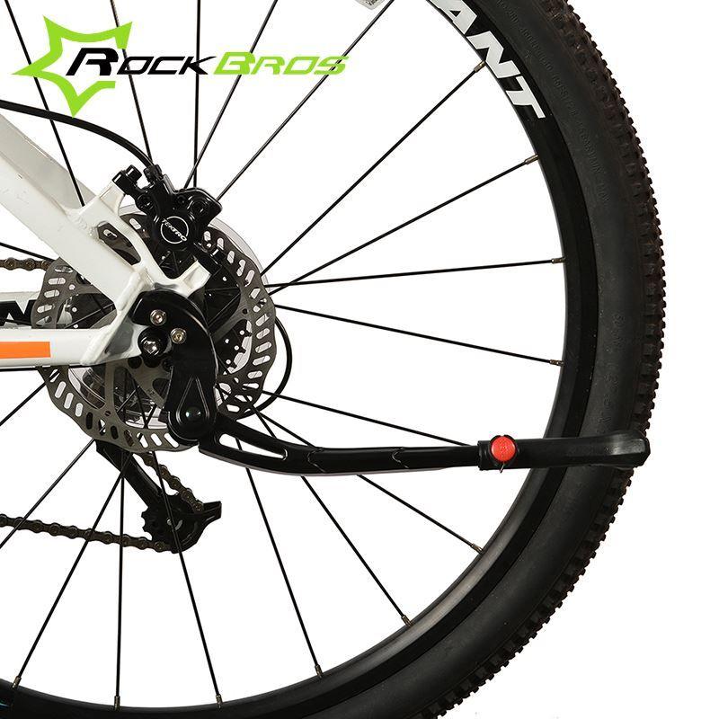 df51c63d33 ROCKBROS Bicycle Kickstand Adjustable Aluminum Bike Kick Stand Folding  Cyling Side Stand Parking Leg Rod Mountain Bike Parts