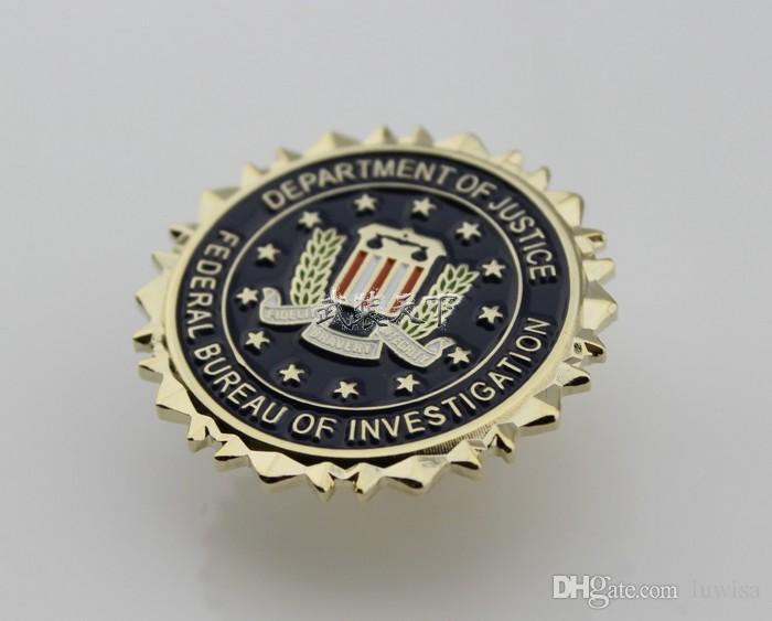 FBI 연방 국 조사관의 법무부 인감 정장 옷깃 핀