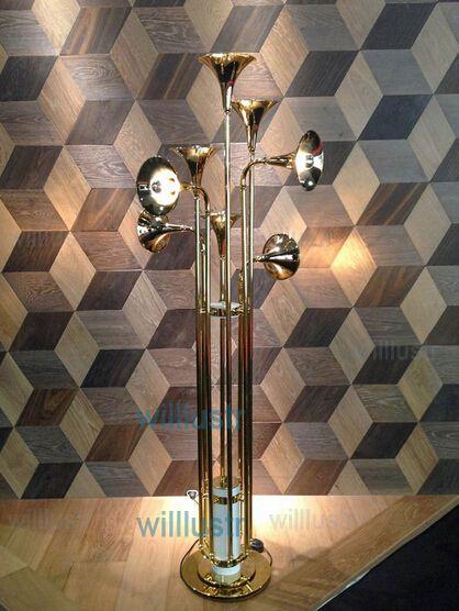delightfull botti piso da lâmpada sala de estar do hotel lâmpada sala de estar Trumpet Forma piso iluminação nordic design novidade luz