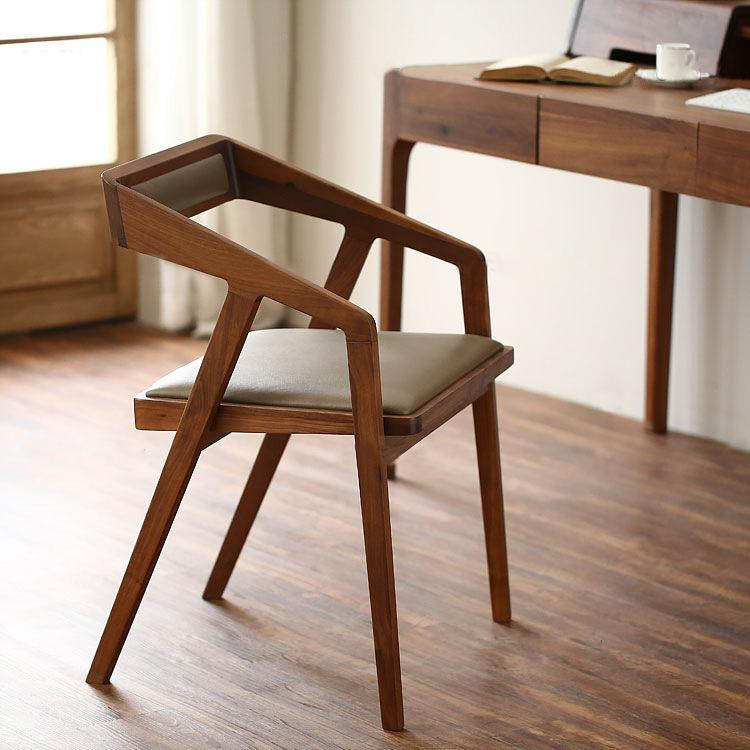Bon 2018 Walnut Wood Armchair Wholesale Fashion Wooden Chairs Cafe Chairs  Combination From Zhoudan5245, $342.4 | DHgate.Com