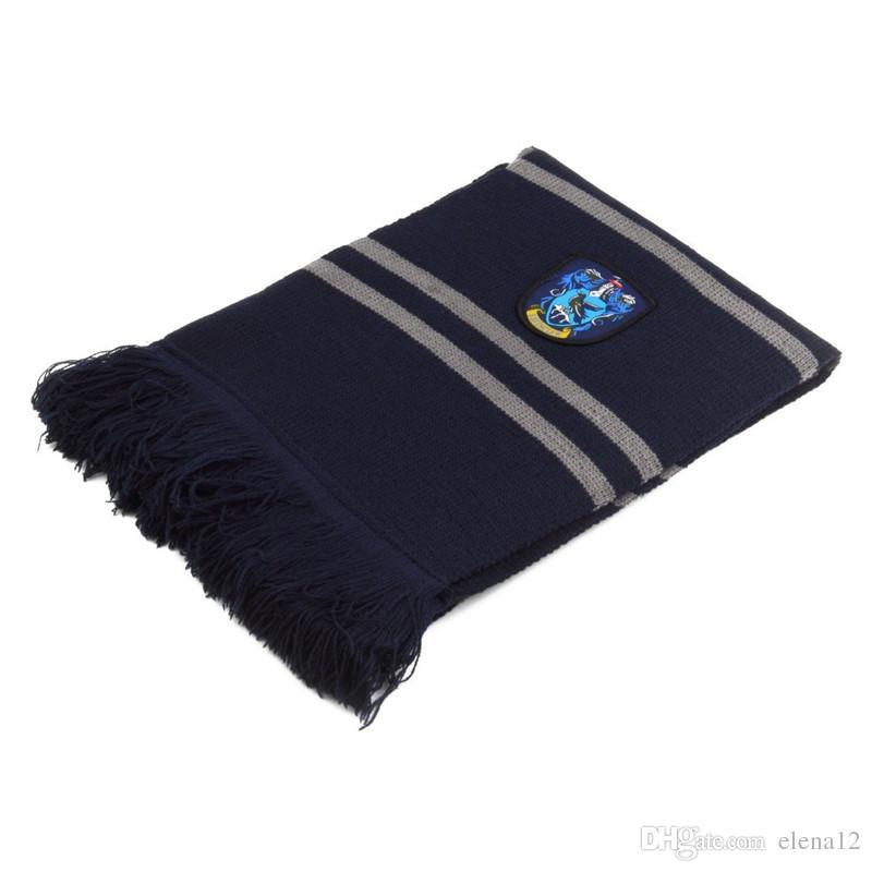 glands Foulard Gryffondor Serpentard Poufsouffle Maisons Serdaigle badge Écharpes chaudes en tricot pour hommes femmes 240391