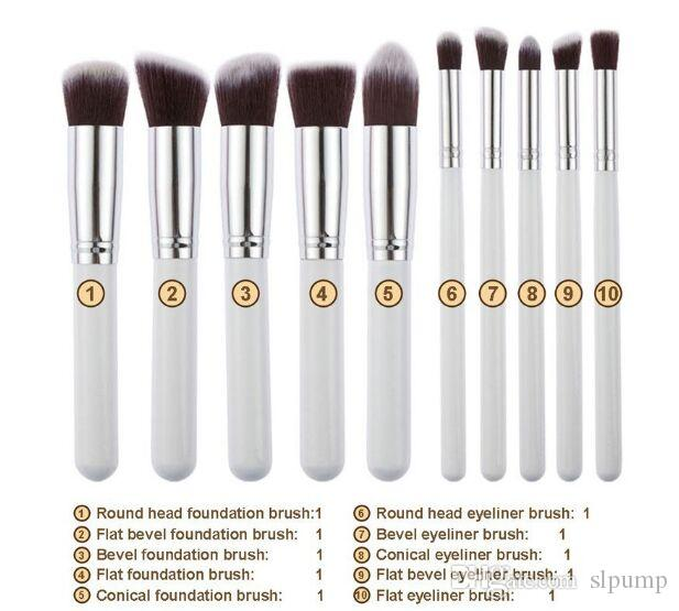 10 stücke Make-Up Pinsel 10 stücke Professionelle Kosmetik Pinsel Kit Nylon Haar Holzgriff Lidschatten Foundation Tools