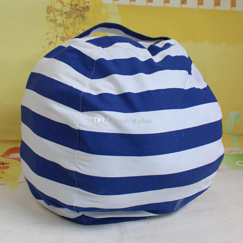 Fashion Storage Bean Bags Kids Plush Toys Beanbag Chair Bedroom Stuffed Animal Room Mats Portable Clothes Storage Bag WX9-168