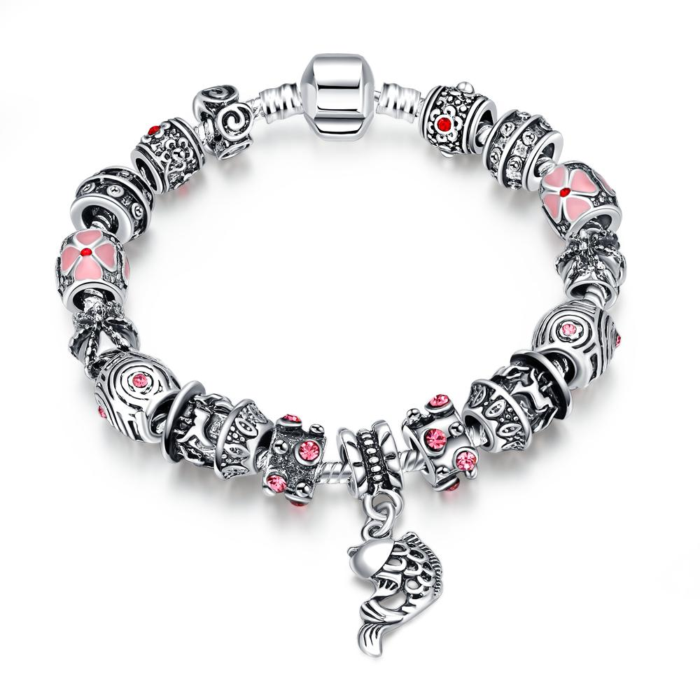 Christmas Gift European Style Bracelet 925 Silver Fish Charm Fit Pandora  Bracelets For Women Fashion Jewelry 925 Silver Bead Bracelets Silver Charm