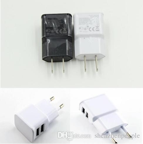 5V 2A EU Dual 2 USB Port Plug Home Wall Charger For mobile phone Mini AC Power Adapter for mobile phone,smart phone
