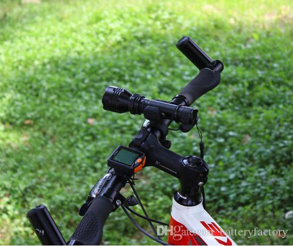 Ücretsiz Epacket, 360 Derece Döner Bisiklet Bisiklet LED El Feneri Işık Montaj Braketi Tutucu Torch Klip Kelepçe Bisiklet Kavrama Dağı 25-31mm