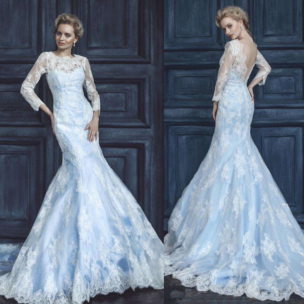 2015 frozen elsa inspired wedding dresses ice blue mermaid